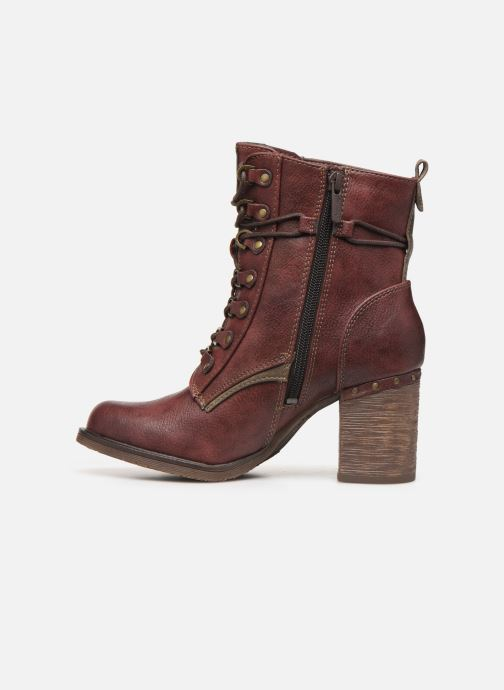 Ankle boots Mustang shoes Paurhun Burgundy front view