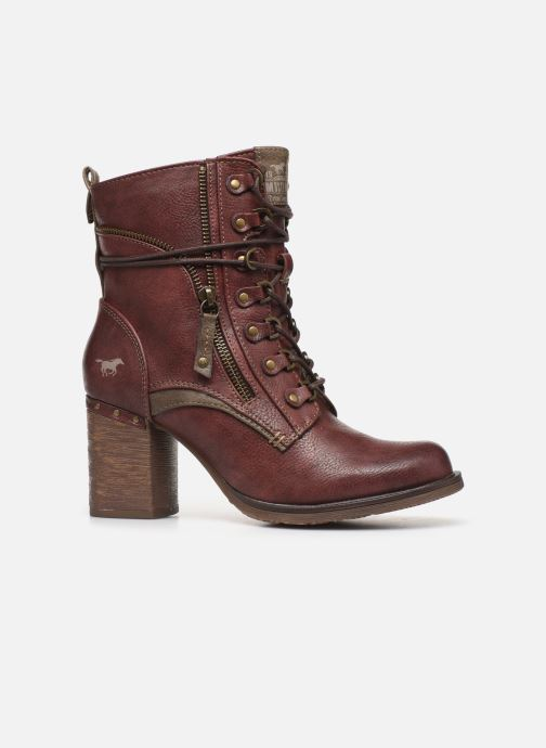 Ankle boots Mustang shoes Paurhun Burgundy back view