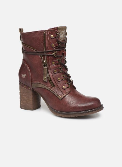 Ankle boots Mustang shoes Paurhun Burgundy detailed view/ Pair view