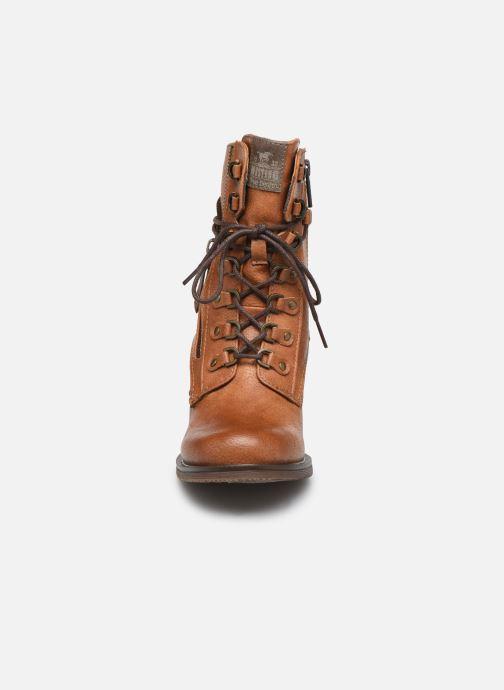 Bottines et boots Mustang shoes Paurhun Marron vue portées chaussures