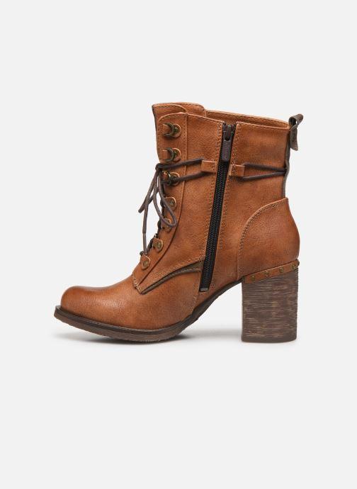 Bottines et boots Mustang shoes Paurhun Marron vue face