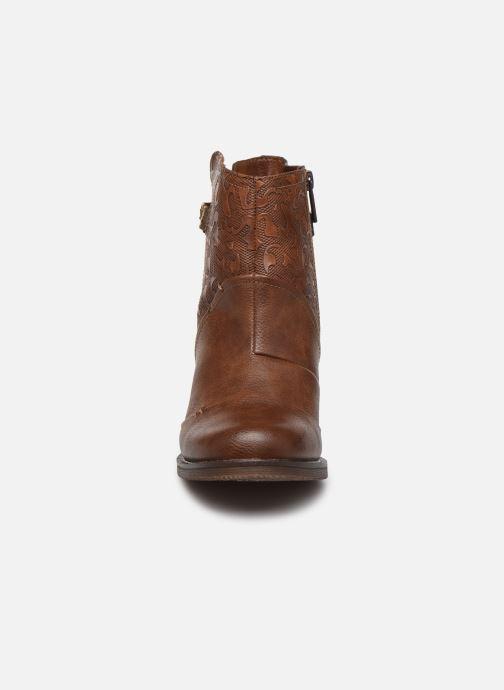 Bottines et boots Mustang shoes Jeda Marron vue portées chaussures