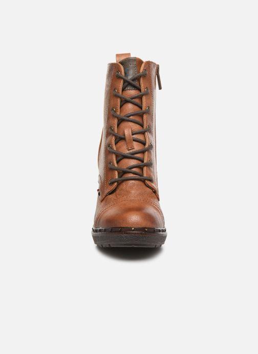 Bottines et boots Mustang shoes Laumon Marron vue portées chaussures
