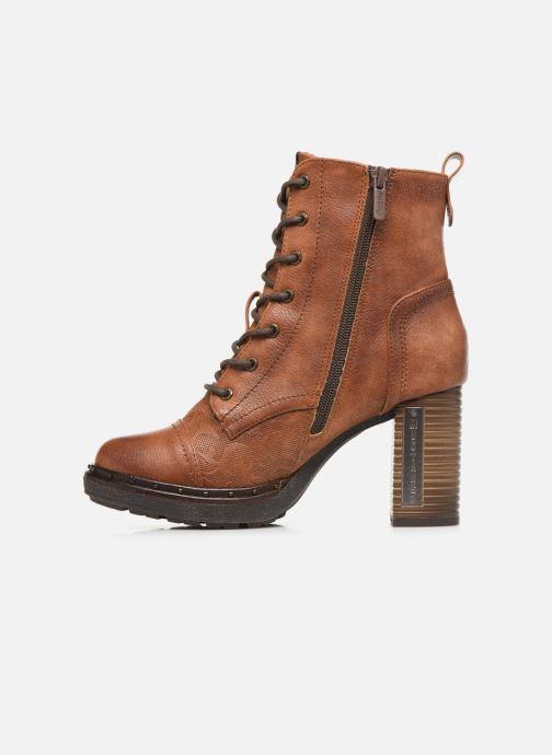 Bottines et boots Mustang shoes Laumon Marron vue face
