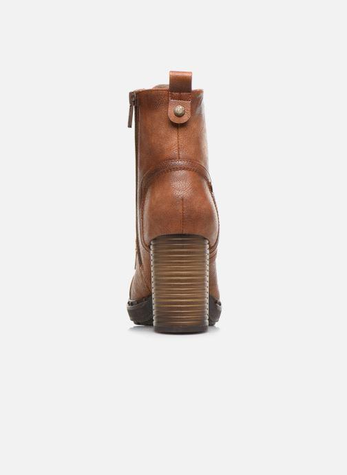 Bottines et boots Mustang shoes Laumon Marron vue droite