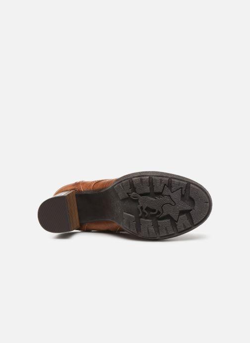 Bottines et boots Mustang shoes Laumon Marron vue haut