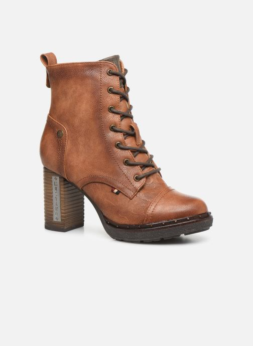 Bottines et boots Mustang shoes Laumon Marron vue détail/paire