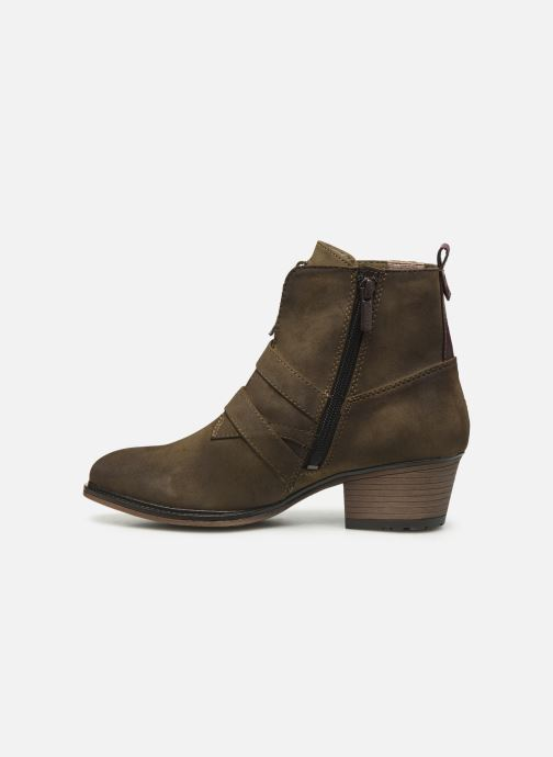 Ankle boots Mustang shoes Laupen Brown front view