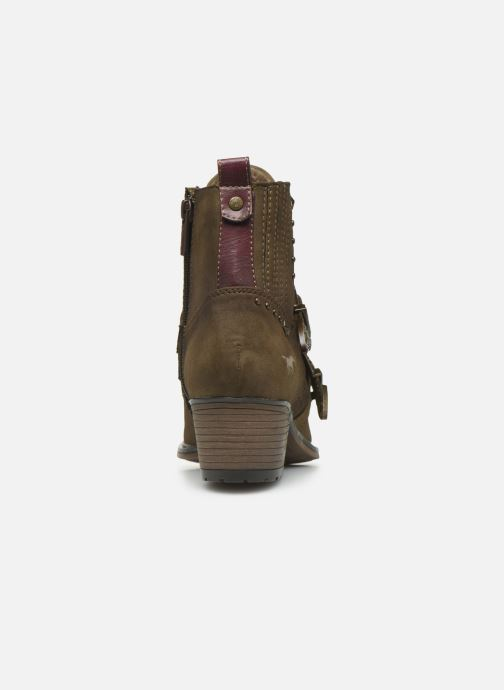 Ankle boots Mustang shoes Laupen Brown view from the right