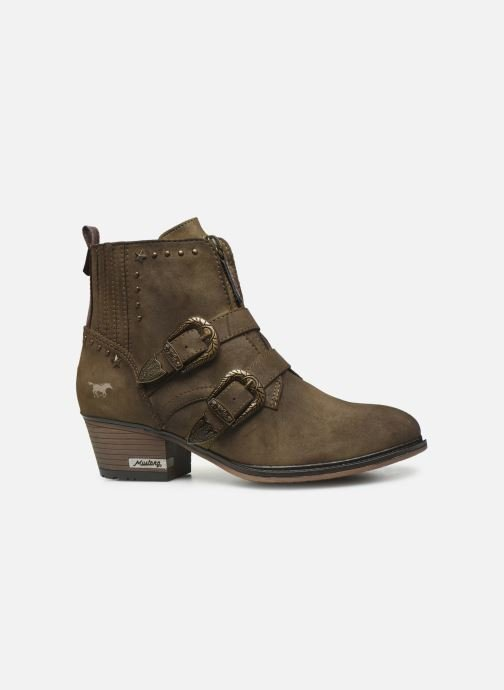 Ankle boots Mustang shoes Laupen Brown back view
