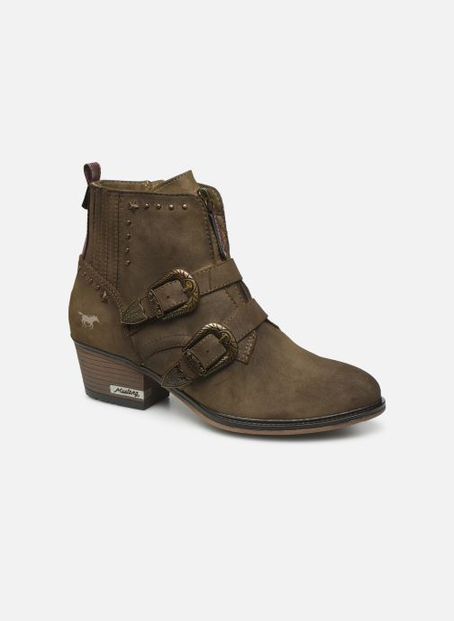 Ankle boots Mustang shoes Laupen Brown detailed view/ Pair view