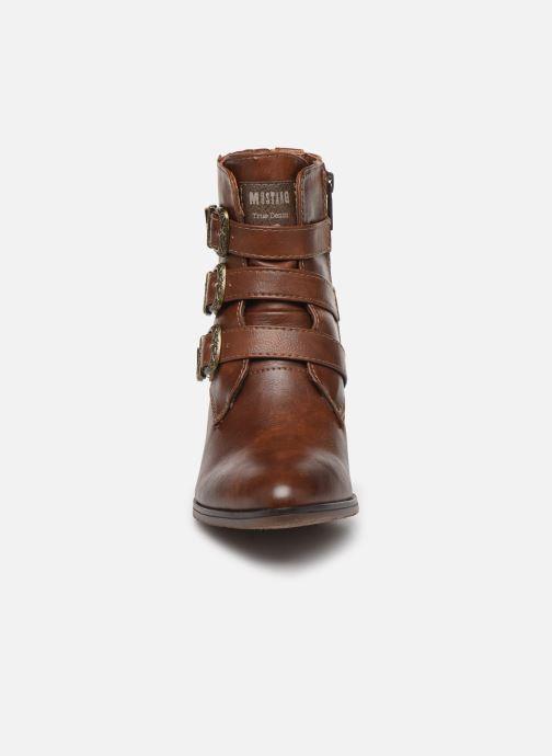 Bottines et boots Mustang shoes Jucha Marron vue portées chaussures
