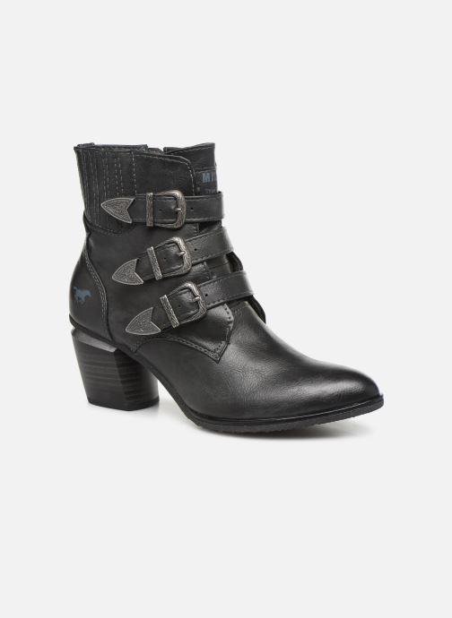 Mustang À Lacets Haut Top Femme Noir Synthétique /& Textile Bottines