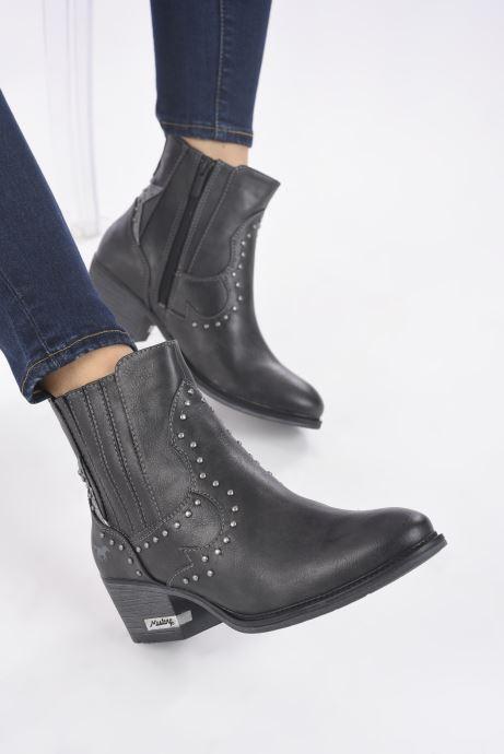 Bottines et boots Mustang shoes Sapleb Gris vue bas / vue portée sac
