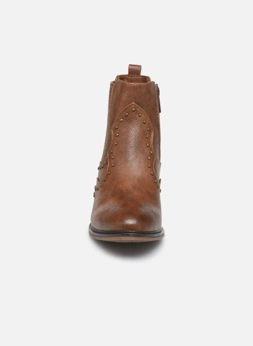 Ankle boots Mustang shoes Sapleb Brown model view