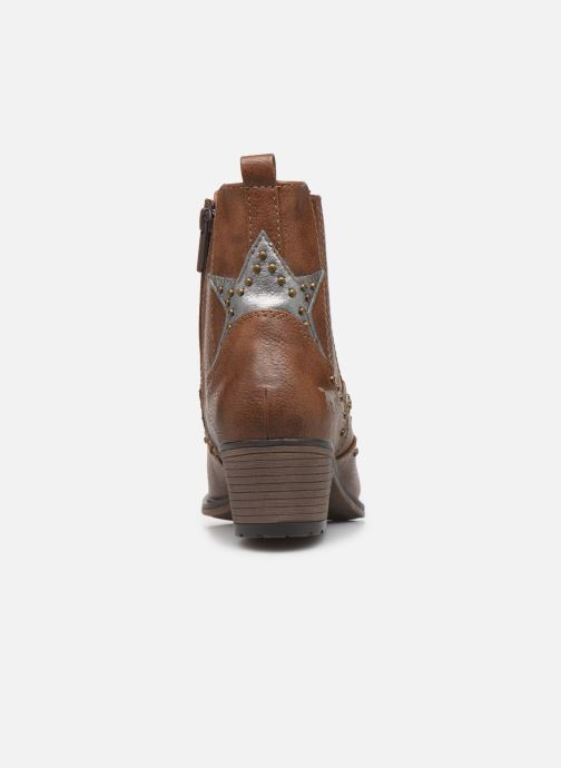 Ankle boots Mustang shoes Sapleb Brown view from the right
