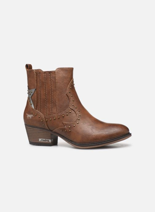Ankle boots Mustang shoes Sapleb Brown back view