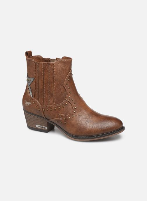 Ankle boots Mustang shoes Sapleb Brown detailed view/ Pair view
