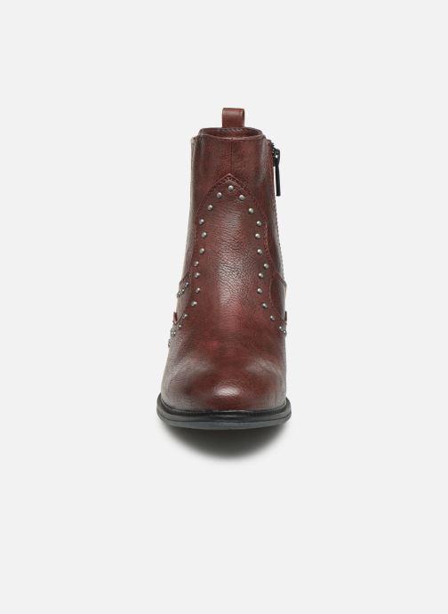 Bottines et boots Mustang shoes Sapleb Bordeaux vue portées chaussures