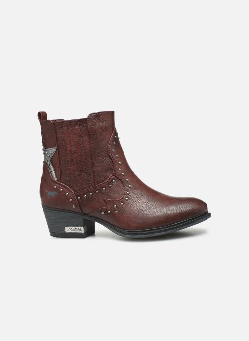 Bottines et boots Mustang shoes Sapleb Bordeaux vue derrière