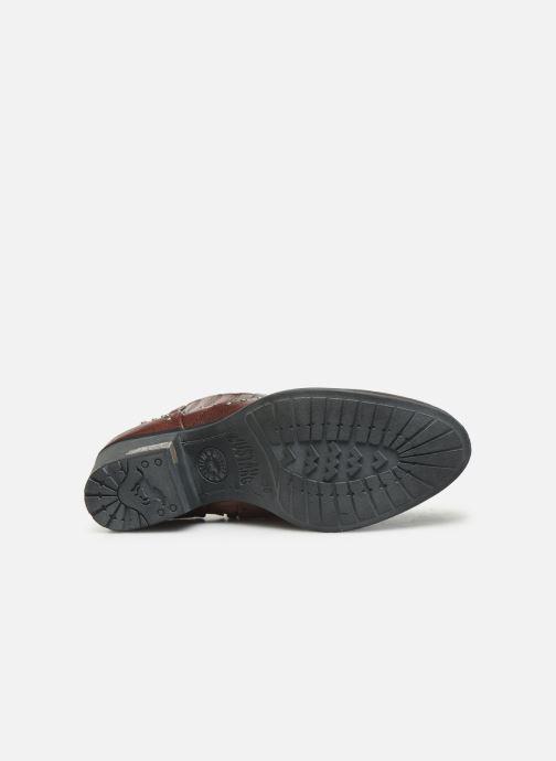 Bottines et boots Mustang shoes Sapleb Bordeaux vue haut