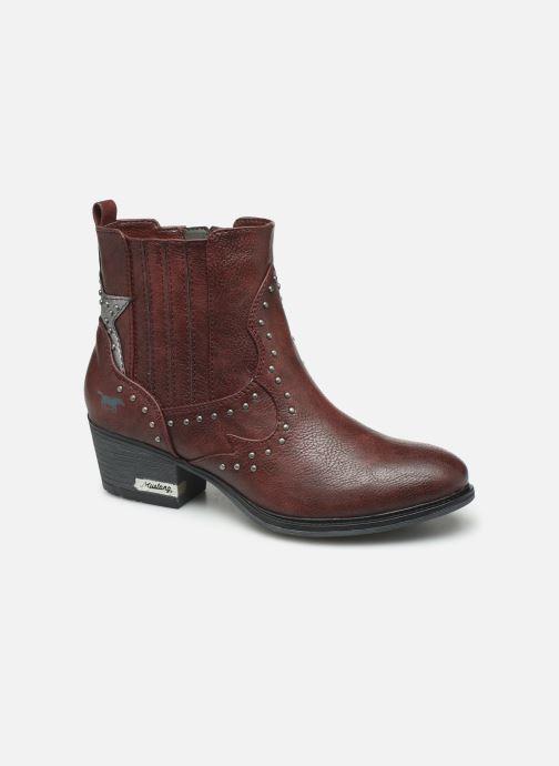 Bottines et boots Mustang shoes Sapleb Bordeaux vue détail/paire