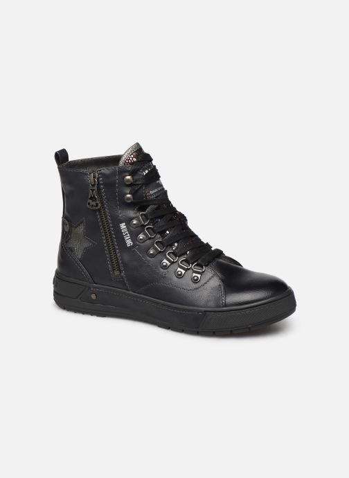 Baskets Mustang shoes Lauloi Noir vue détail/paire