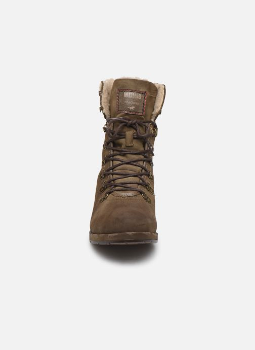 Bottines et boots Mustang shoes Elwenn Vert vue portées chaussures