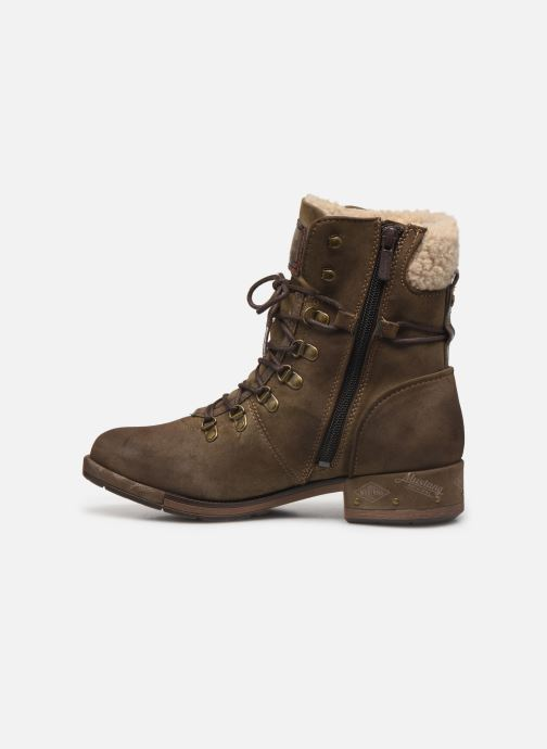 Bottines et boots Mustang shoes Elwenn Vert vue face