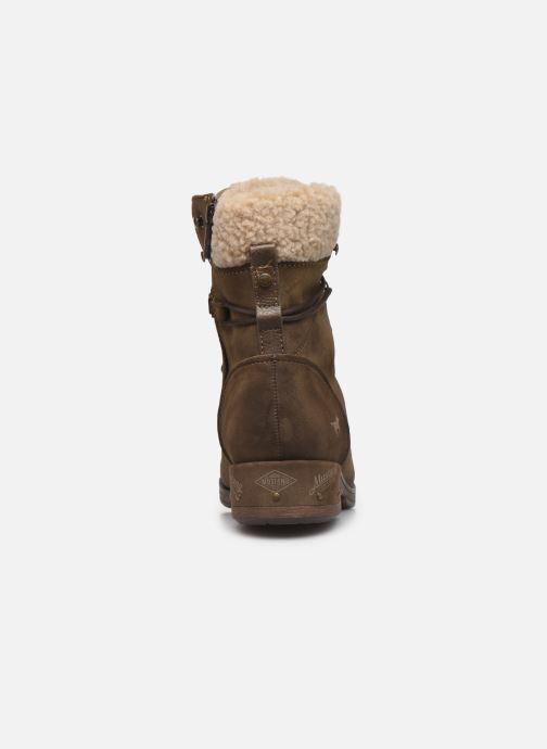 Bottines et boots Mustang shoes Elwenn Vert vue droite