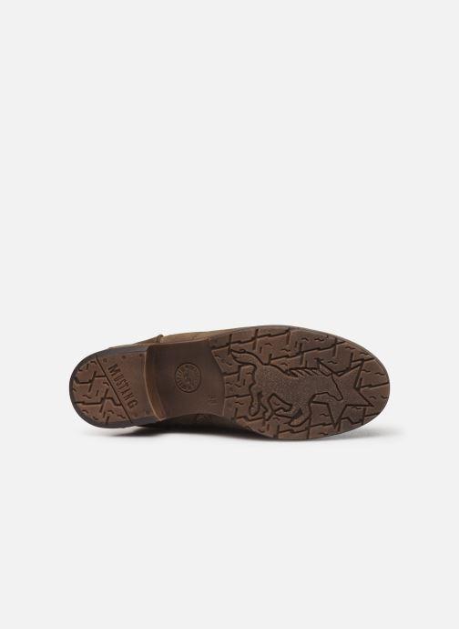 Bottines et boots Mustang shoes Elwenn Vert vue haut
