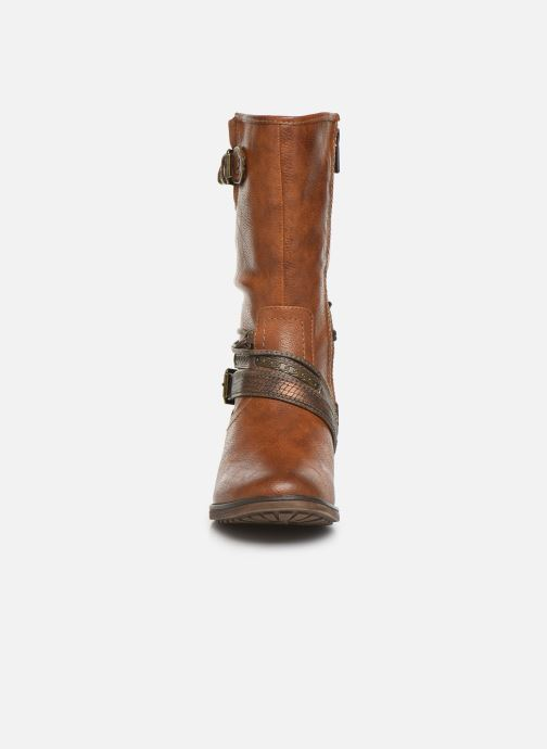 Bottes Mustang shoes Gillis Marron vue portées chaussures