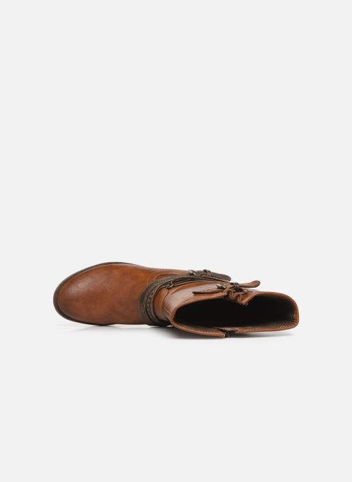 Bottes Mustang shoes Gillis Marron vue gauche