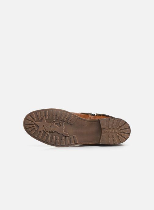 Bottes Mustang shoes Gillis Marron vue haut