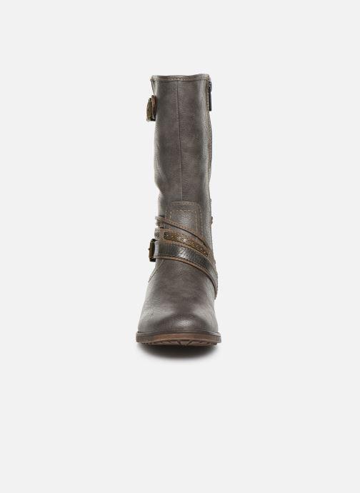 Stiefel Mustang shoes Gillis grau schuhe getragen