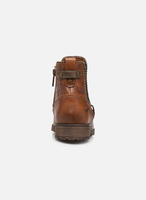 Bottines et boots Mustang shoes Guylain Marron vue droite