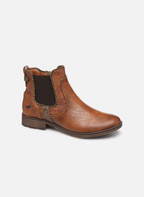Bottines et boots Mustang shoes Guylain Marron vue détail/paire
