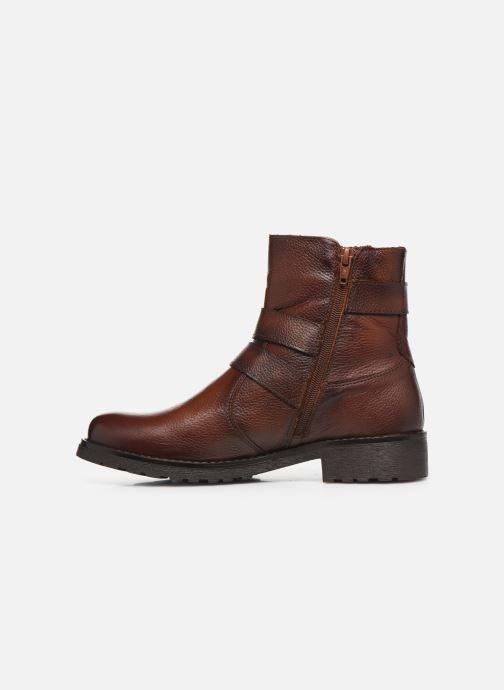 Boots en enkellaarsjes Mustang shoes Kelyan Bruin voorkant