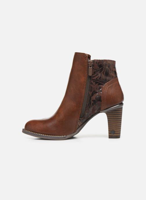 Boots en enkellaarsjes Mustang shoes Nathael Bruin voorkant