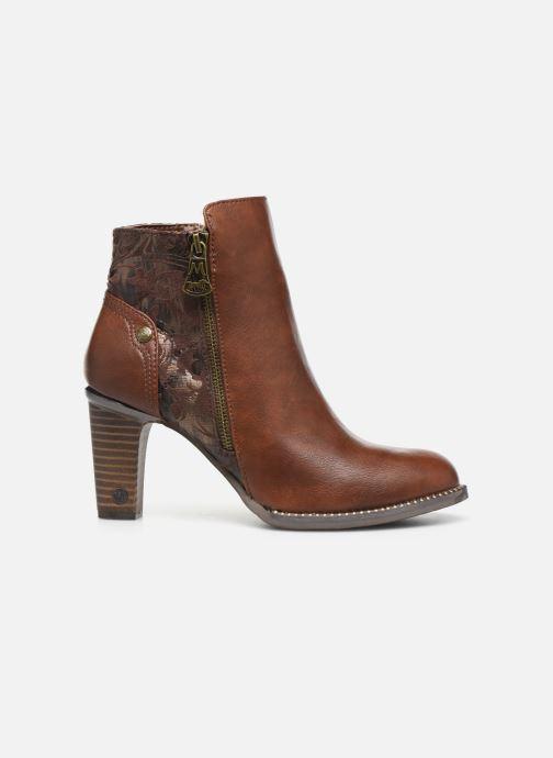 Boots en enkellaarsjes Mustang shoes Nathael Bruin achterkant