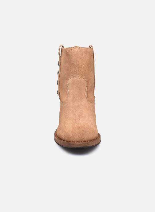 Bottines et boots Les Tropéziennes par M Belarbi Lisette Marron vue portées chaussures