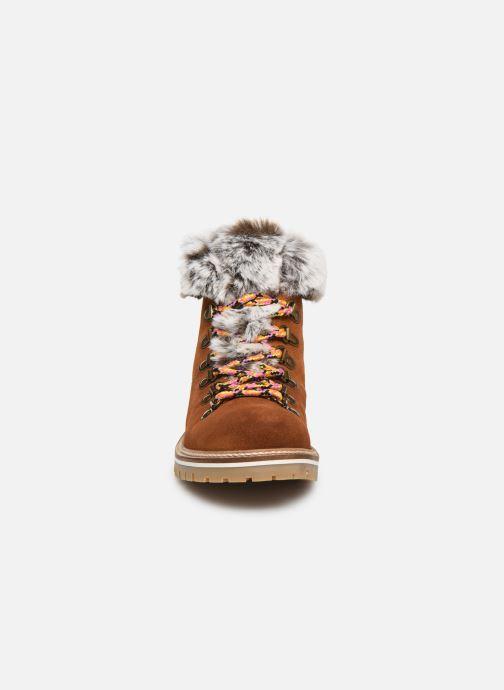 Bottines et boots Les Tropéziennes par M Belarbi Lavinia Marron vue portées chaussures