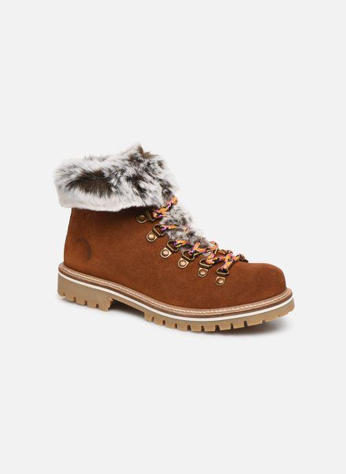 Bottines et boots Les Tropéziennes par M Belarbi Lavinia Marron vue détail/paire