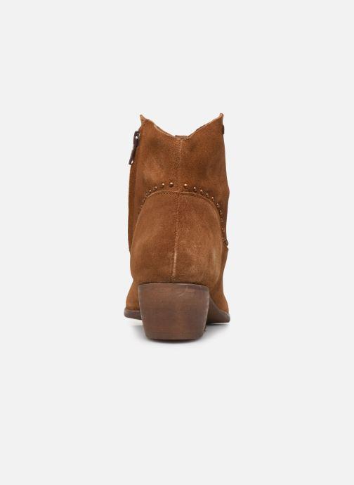 Bottines et boots Les Tropéziennes par M Belarbi ASTRID Marron vue droite
