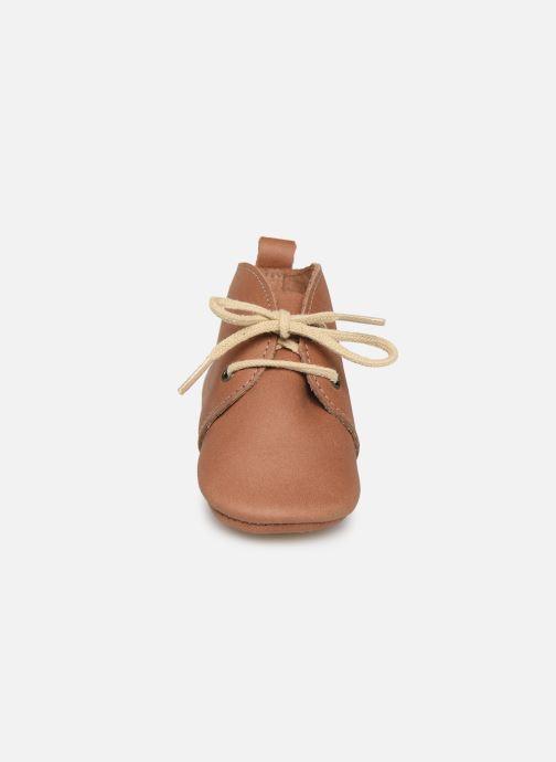 Chaussons Patt'touch Gabriel Derby Marron vue portées chaussures