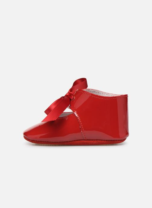 Chaussons Patt'touch Alienor Charles Ix Rouge vue face