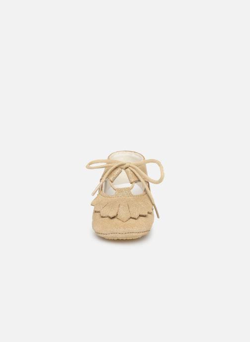 Chaussons Patt'touch Carole Charles Ix Franges Or et bronze vue portées chaussures