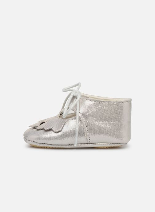 Pantofole Patt'touch Carole Charles Ix Franges Argento immagine frontale
