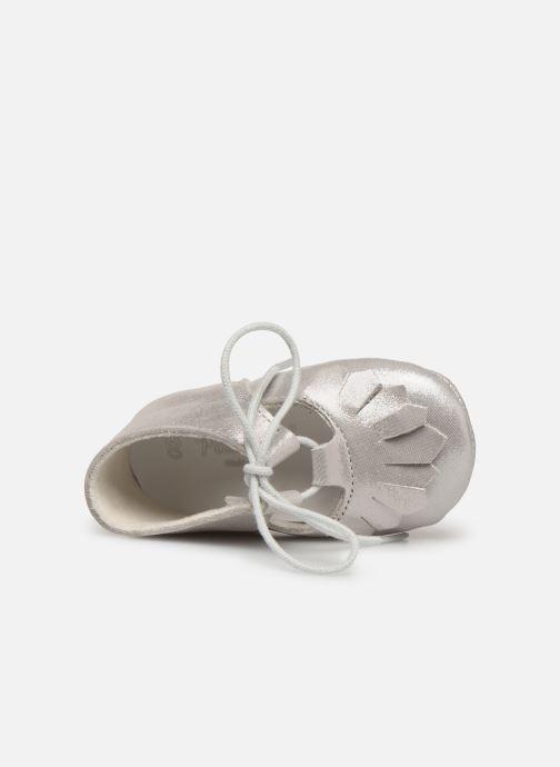 Pantofole Patt'touch Carole Charles Ix Franges Argento immagine sinistra