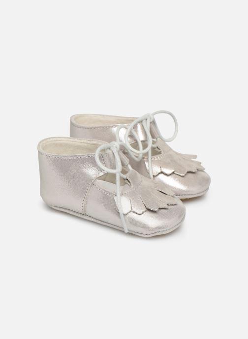 Pantofole Patt'touch Carole Charles Ix Franges Argento vedi dettaglio/paio